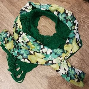 ☘ St. Patricks Day Scarf Set Emerald Green